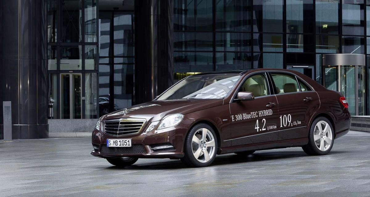 Detroit 2012 : Mercedes E 300 BlueTEC HYBRID et E 400 HYBRID