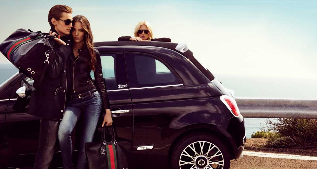 Fiat 500C by Gucci : gravure de mode