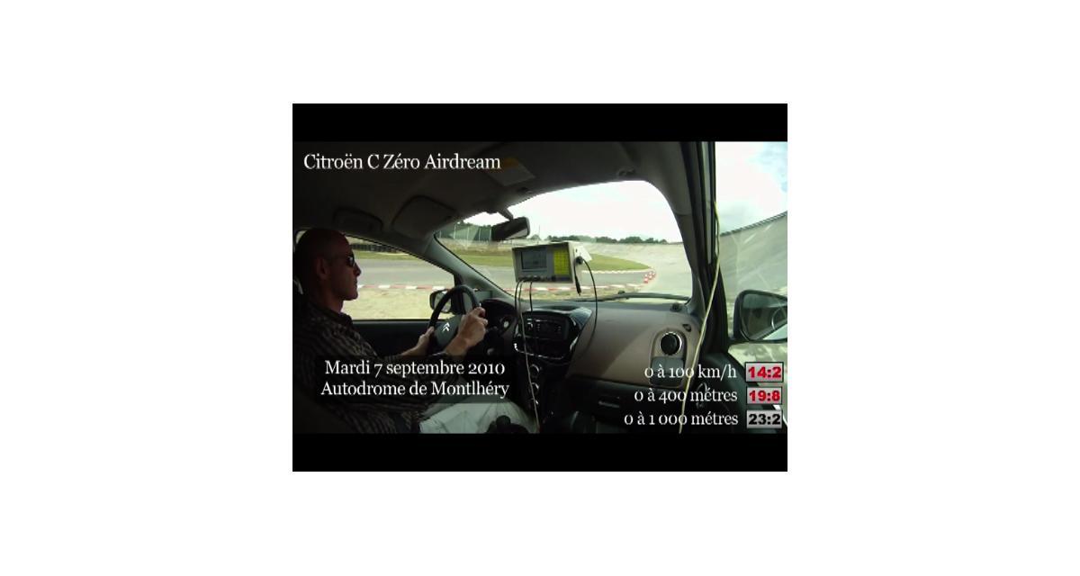 Vidéo Auto Moto : la Citroën C-Zéro à Montlhéry