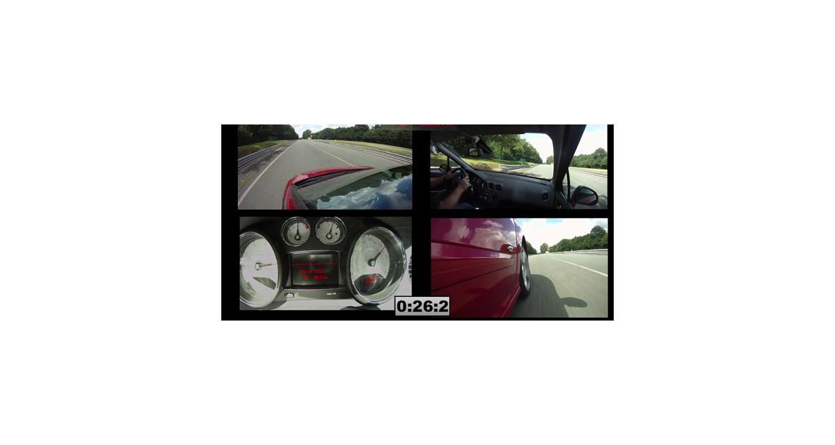 Vidéo Auto Moto : un tour de circuit en Peugeot 308 GTi