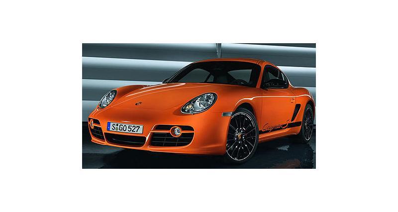 Porsche Cayman Sport : orange pressée
