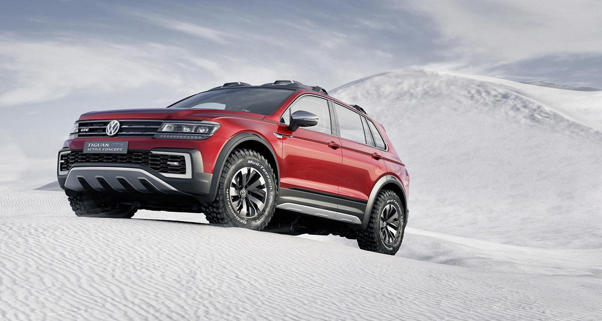 Volkswagen Tiguan GTE Active Concept : hybride et 4 roues motrices
