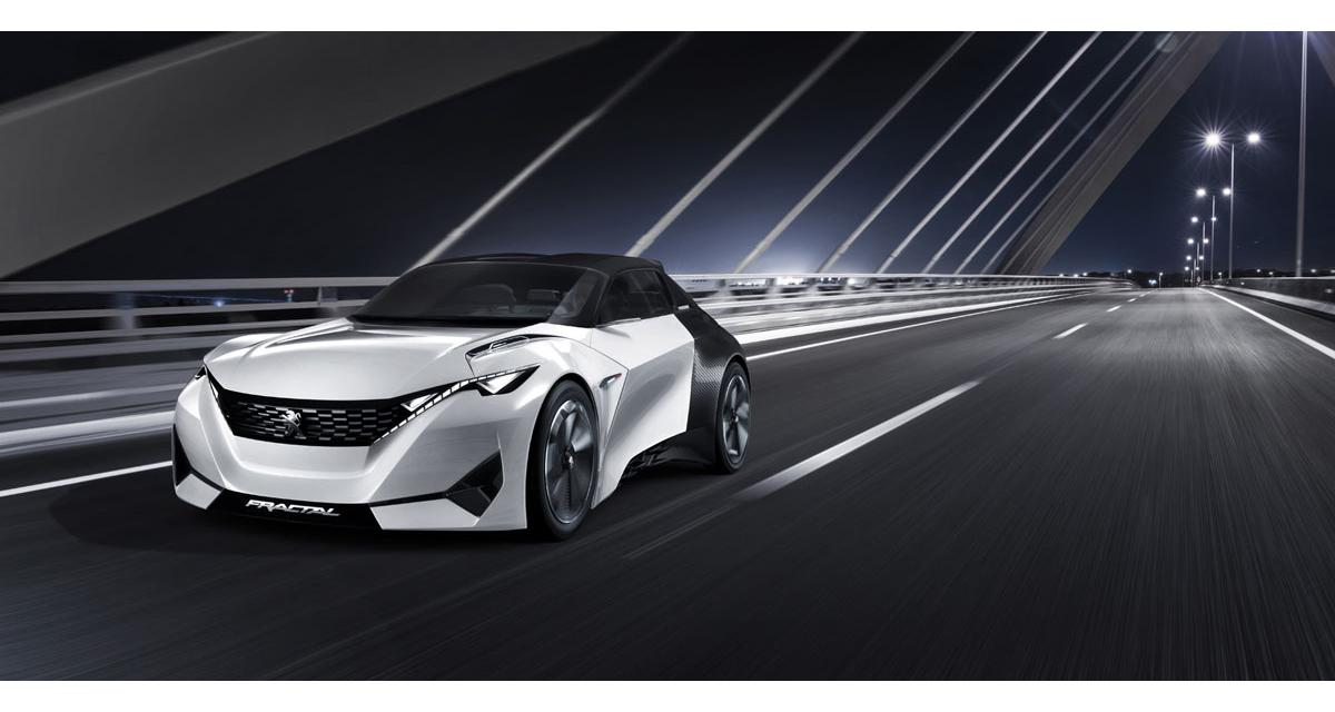 Peugeot Fractal : un concept électrique qui va faire du bruit
