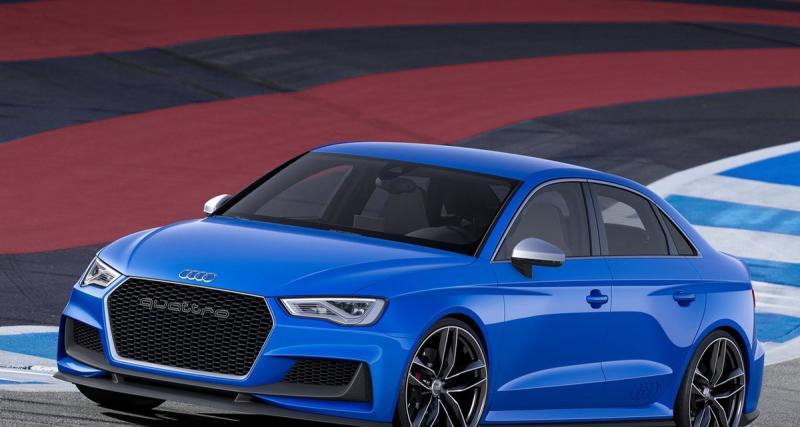 Audi A3 Clubsport Quattro Concept : une RS3 Berline avant l'heure ?