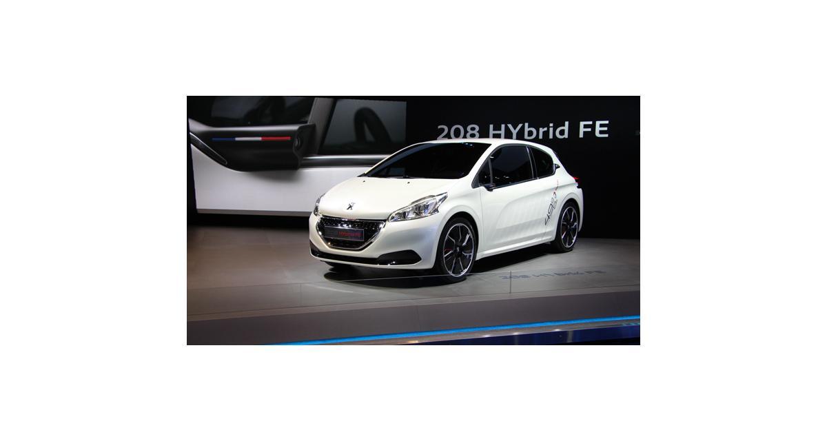En direct de Francfort : Peugeot 208 Hybrid FE Concept