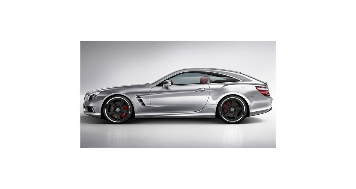 Mercedes SL Coupe Torino : le roadster se mue en break de chasse