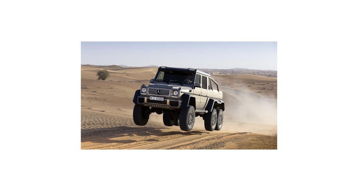 Mercedes G63 AMG 6x6 : à l'assaut des dunes