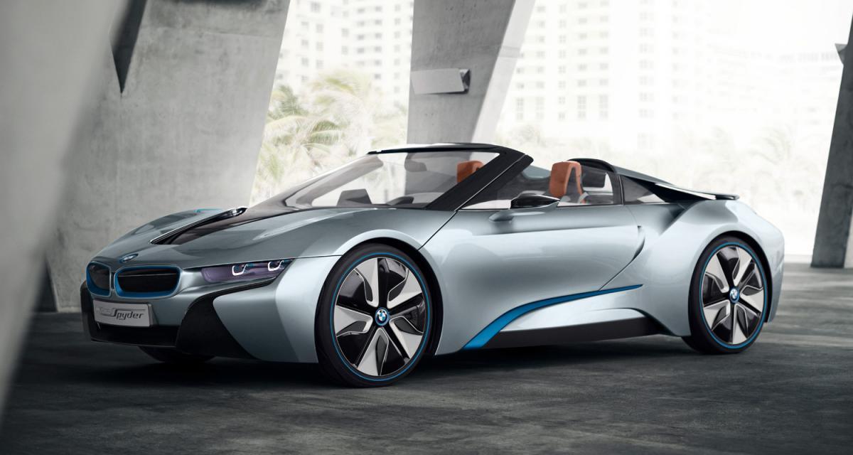 BMW i8 Concept Spyder : le sport écolo cheveux au vent