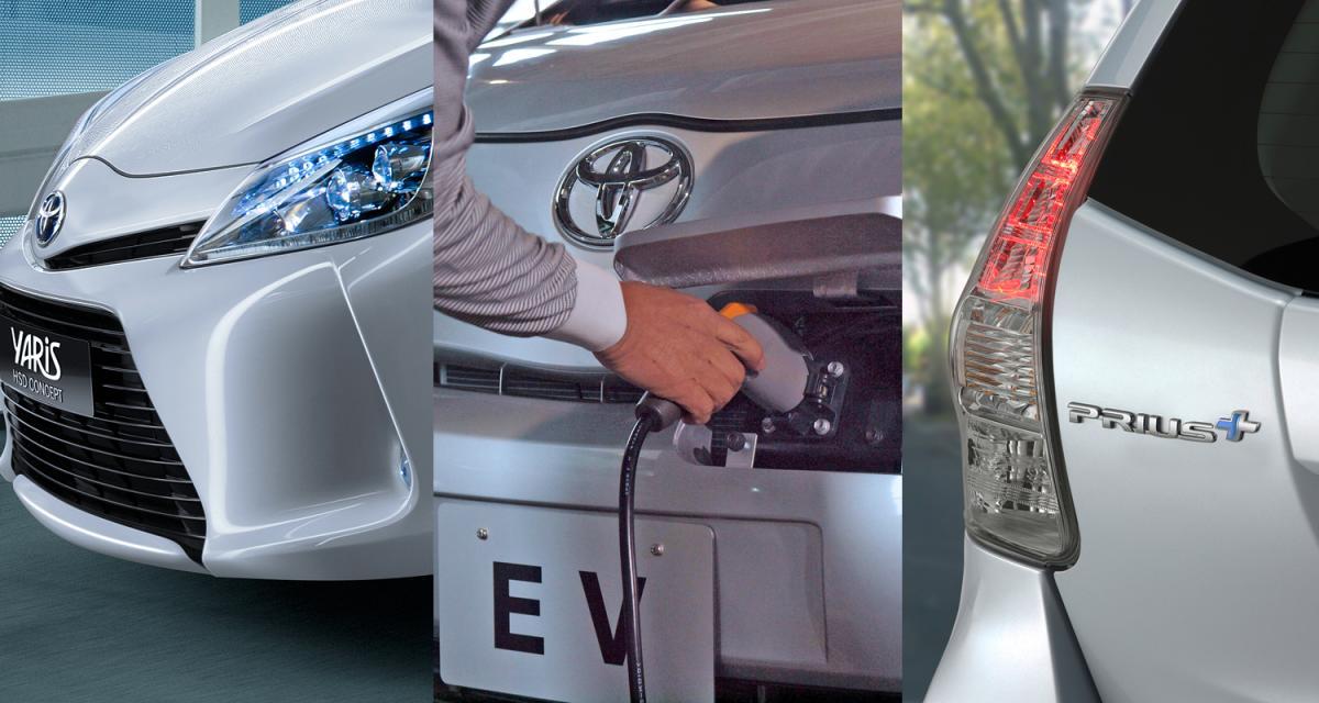 Salon de Genève 2011 : Toyota Prius+, Yaris HSD et iQ EV