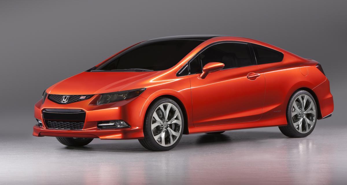 Detroit 2011 : Honda Civic Concept Sedan et Si Concept Coupe