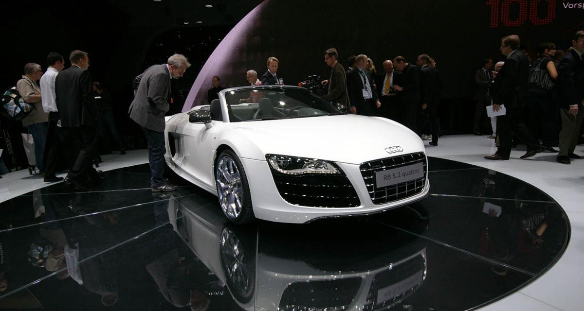 En direct de Francfort : Audi R8 Spyder