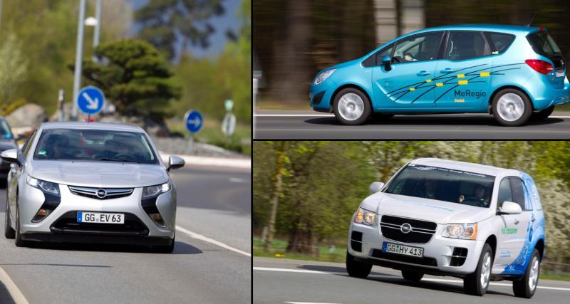 Opel : l'Ampera et l'HydroGen4 à l'essai