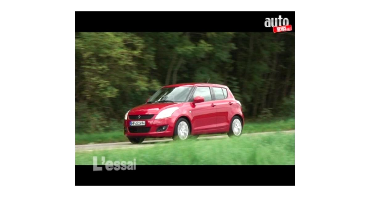 Essai vidéo de la Suzuki Swift