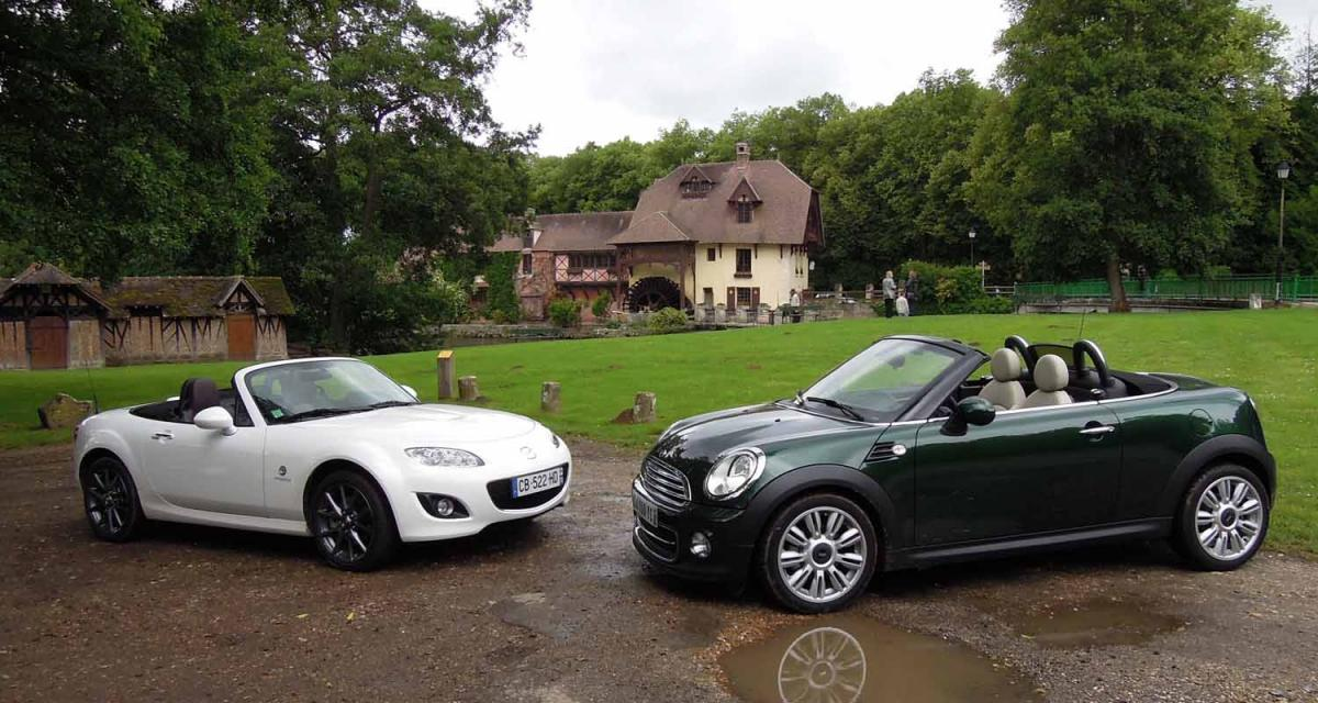 Comparatif : Mazda MX-5 1.8 contre Mini Roadster Cooper
