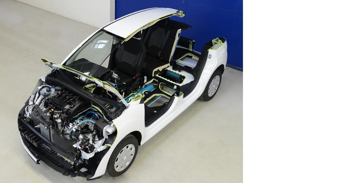 Peugeot 2008 Hybrid Air essence/air comprimé : le crossover urbain du futur