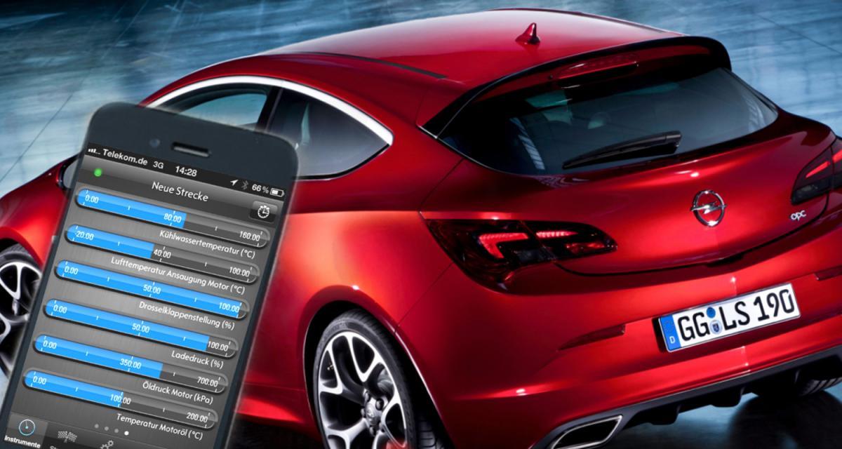Opel lance une appli iPhone et Androïd de télémétrie embarquée pour l'Astra OPC