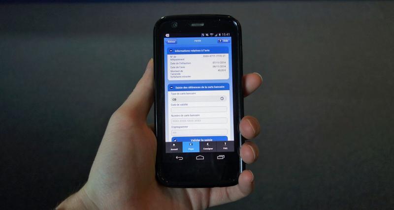 Payer ses PV sur smartphone avec l'application Amendes.Gouv