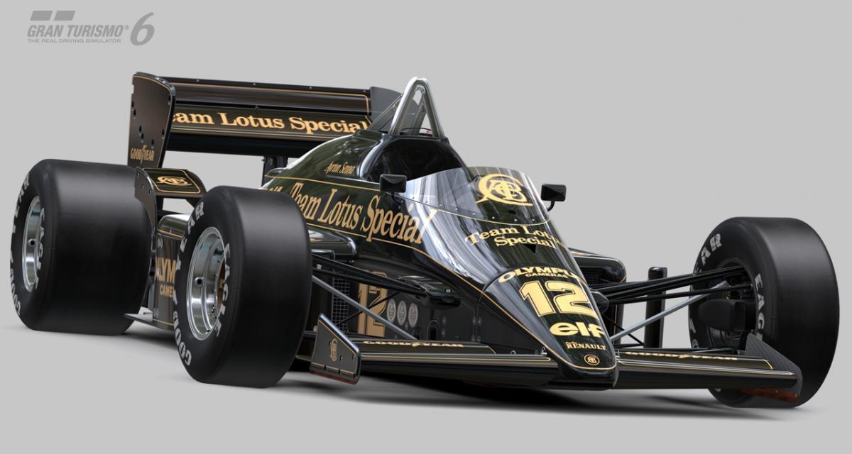 La Lotus-Renault 97T de Senna dans Gran Turismo 6