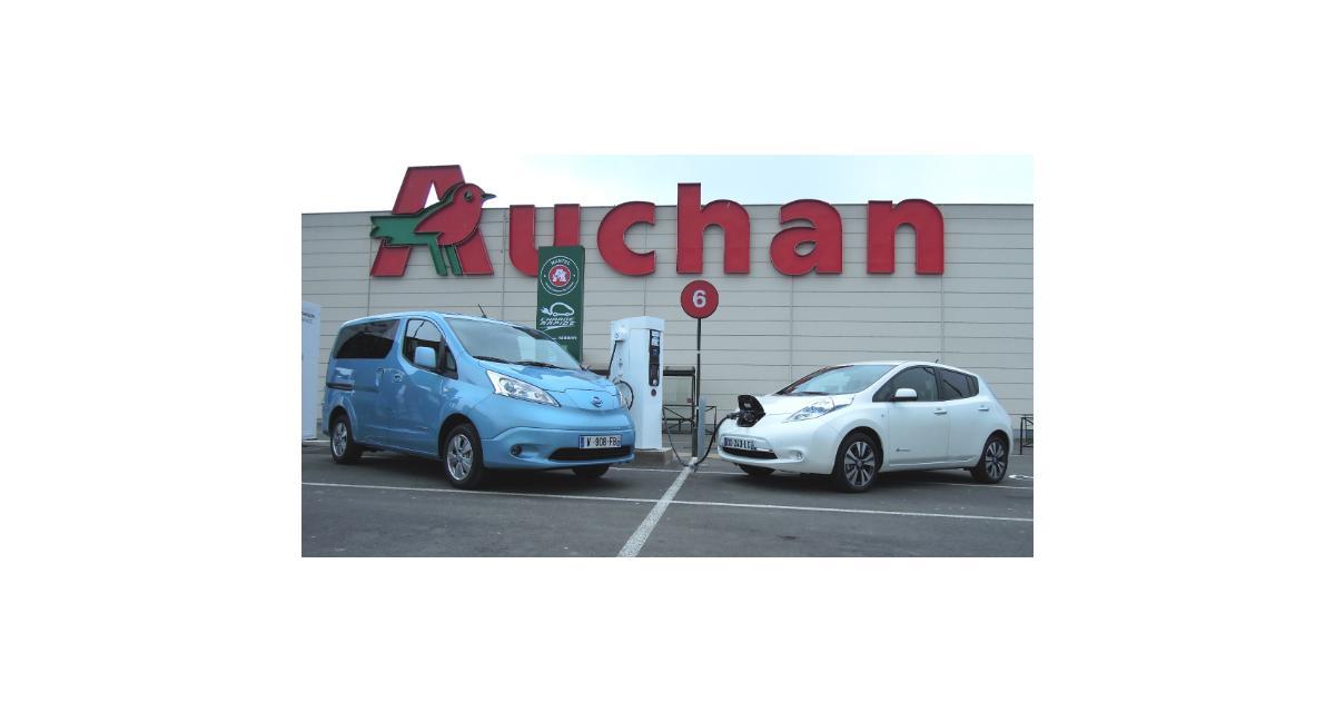 Nissan et Auchan, partenaires pour l'électrique