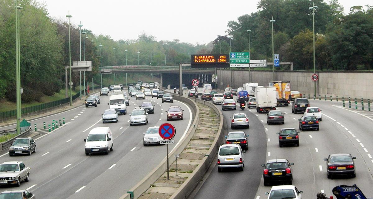 Paris : le périphérique limité à 70 km/h à partir du 10 janvier