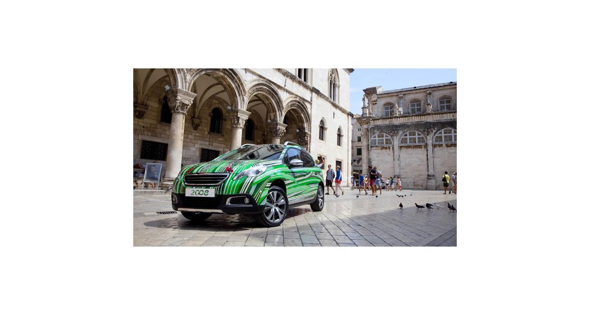 Peugeot : un 2008 art car pour le déminage en Croatie