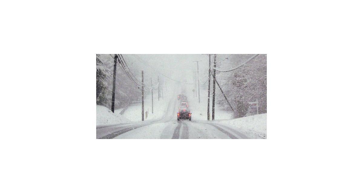 La France sous la neige et le verglas