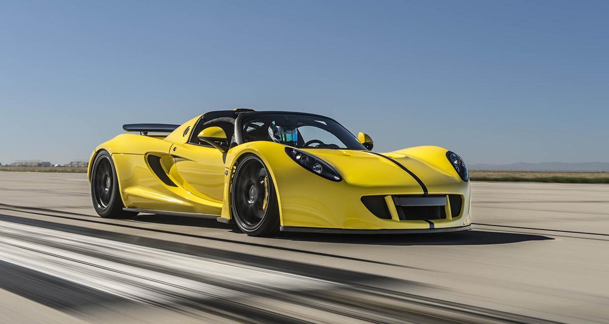 La Hennessey Venom GT Spyder, cabriolet le plus rapide du monde à 427 km/h