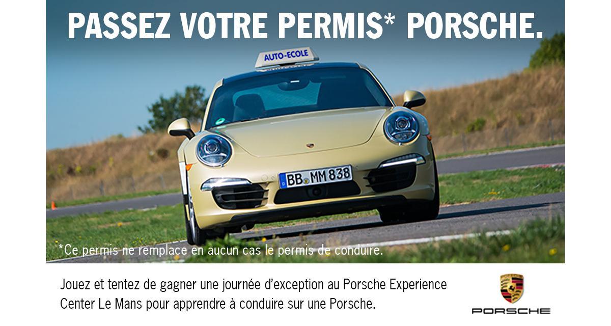 """Jeu concours : passez le """"Permis Porsche"""""""