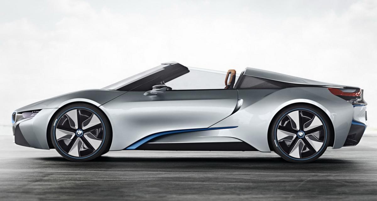 La BMW i8 Spyder dans les starting-blocks