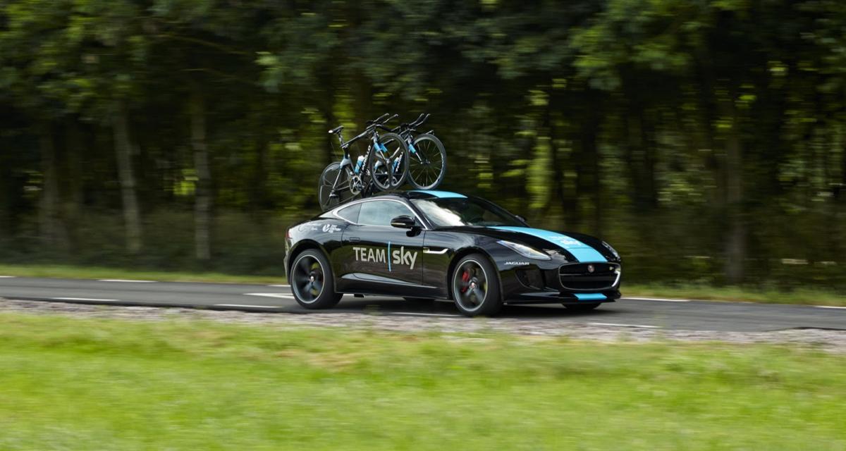 La Jaguar F-Type s'invite sur le Tour de France