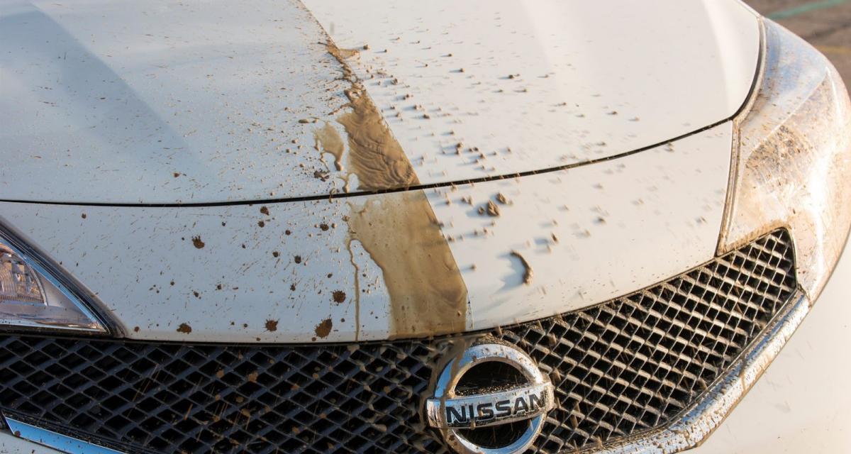 Nissan présente sa peinture auto-nettoyante