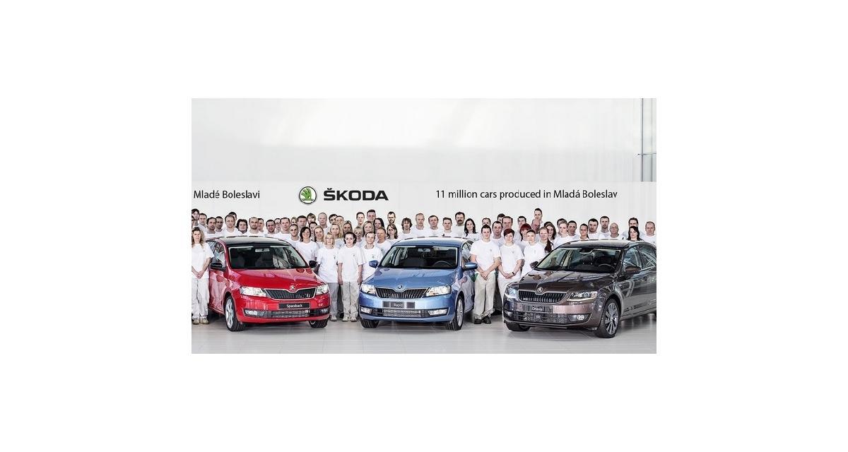 Skoda : 11 millions de voitures produites à l'usine de Mladá Boleslav