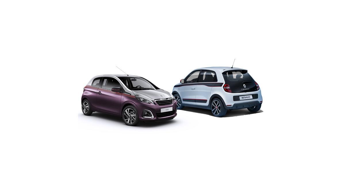 Renault Twingo 3 contre Peugeot 108 : à la conquête des villes