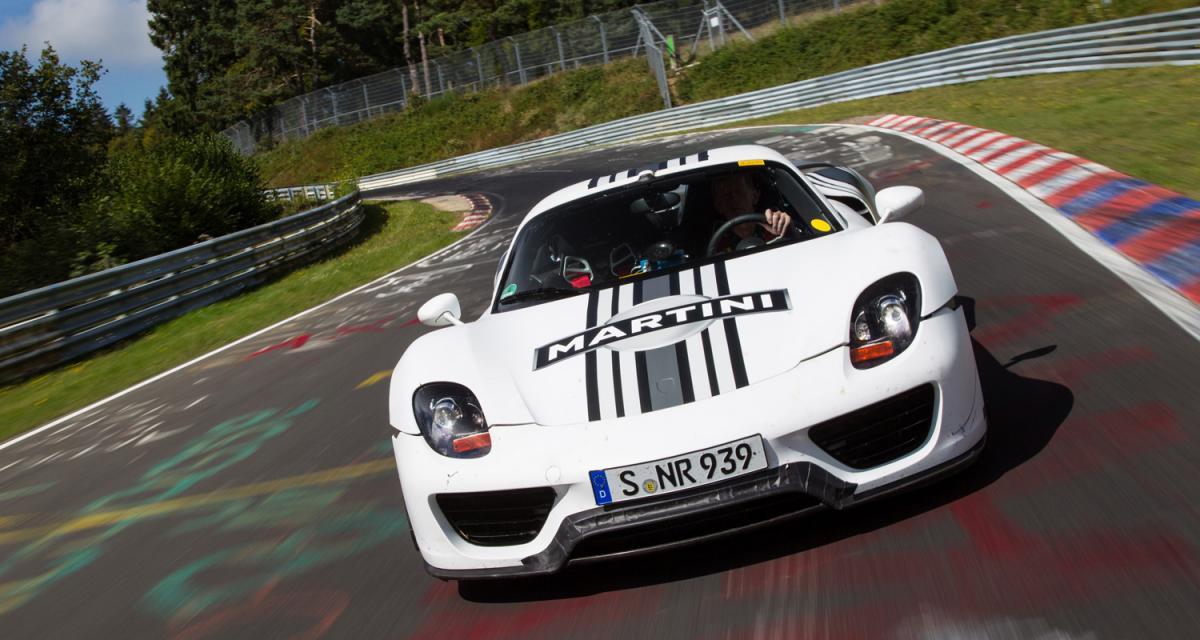Porsche 918 : plus rapide que LaFerrari et la McLaren P1 ?