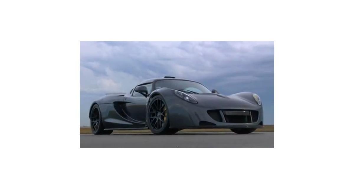 Record d'accélération : la Hennessey Venom GT claque 300 km/h en 13,6 s