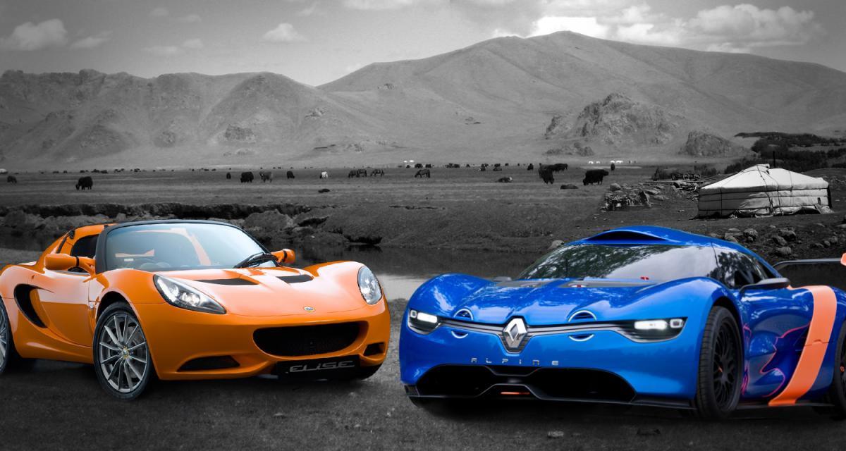 Alpine Renault contre Lotus Elise : match de poids plumes