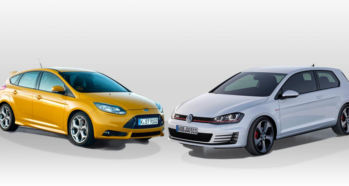 Volkswagen Golf GTI contre Ford Focus ST : compactes en tenue de sport