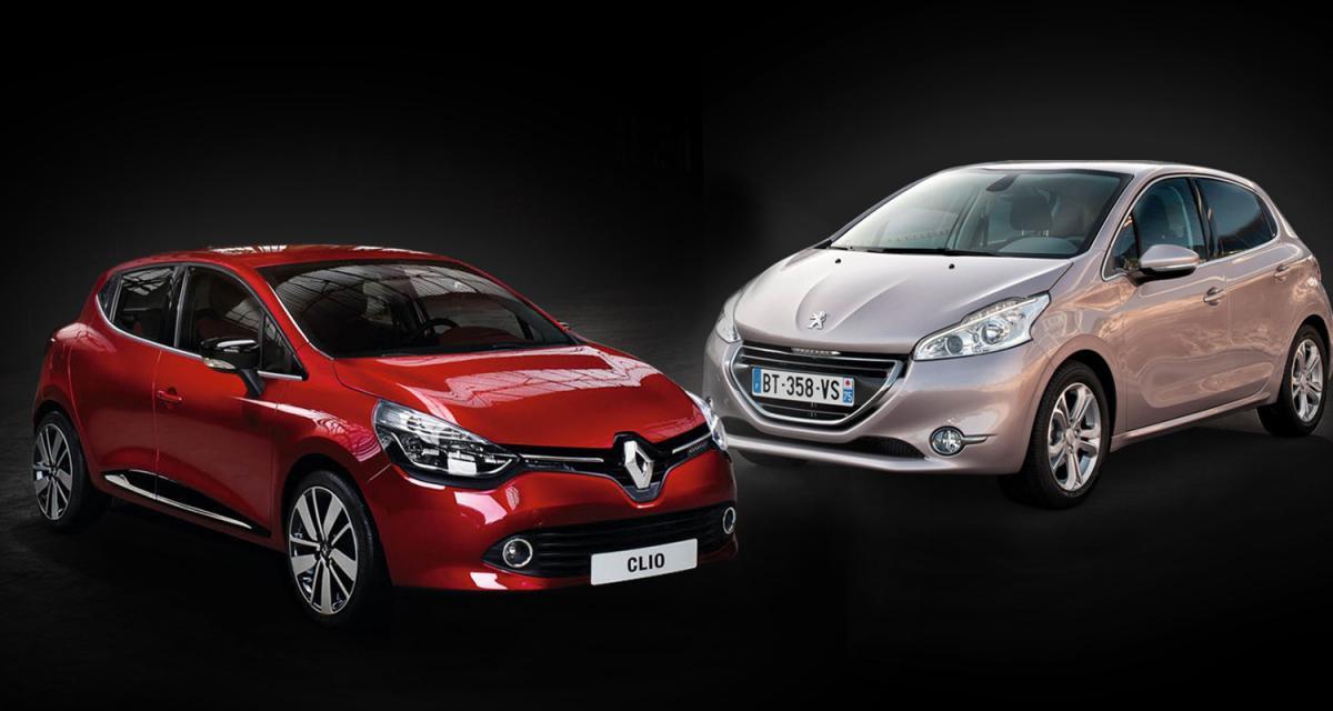 Renault Clio 4 - Peugeot 208 : duel de stars
