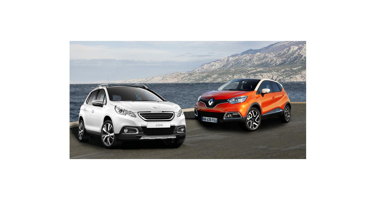 Essais crossovers français : Renault Captur et Peugeot 2008