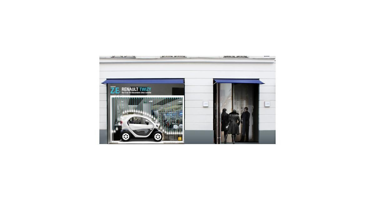 Renault Twizy s'exhibe chez colette