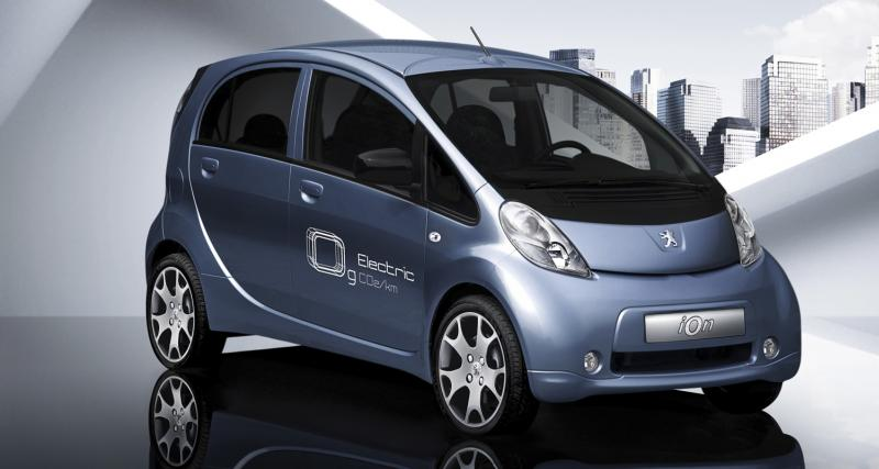 Peugeot iOn : 500 euros par mois en... location