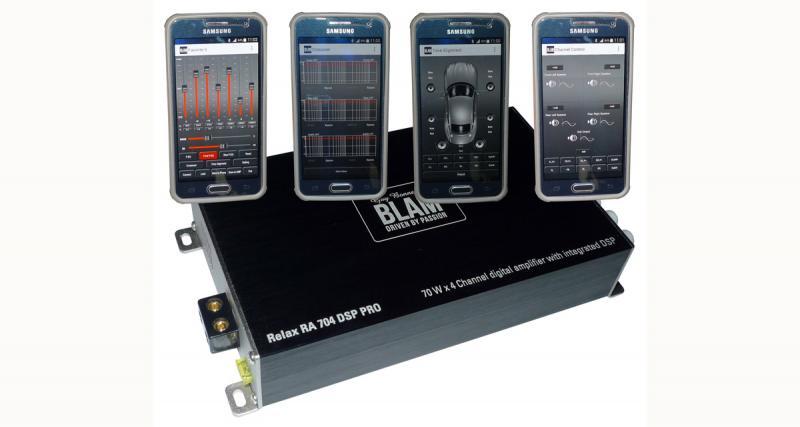 Le DSP de l'ampli se programme facilement avec un Smartphone Android ou un iPhone