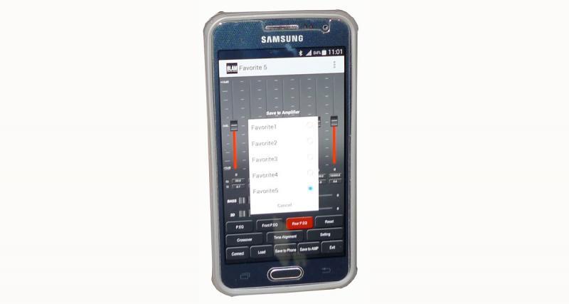 Une fois les réglages mémorisés dans l'ampli, il n'est plus nécessaire d'utiliser le Smartphone