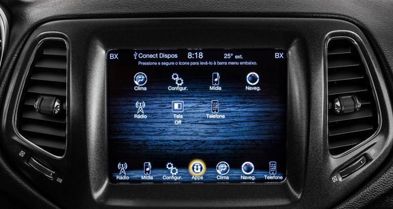 La nouvelle Jeep Compass possédera le CarPlay et Android Auto