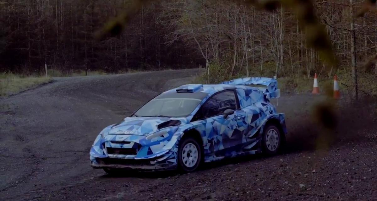 La Ford Fiesta WRC 2017 en action