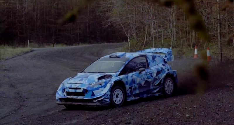 La Ford Fiesta WRC 2017 en action
