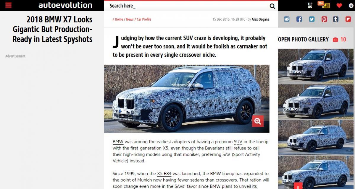 L'énorme BMW X7 semble prêt pour la production