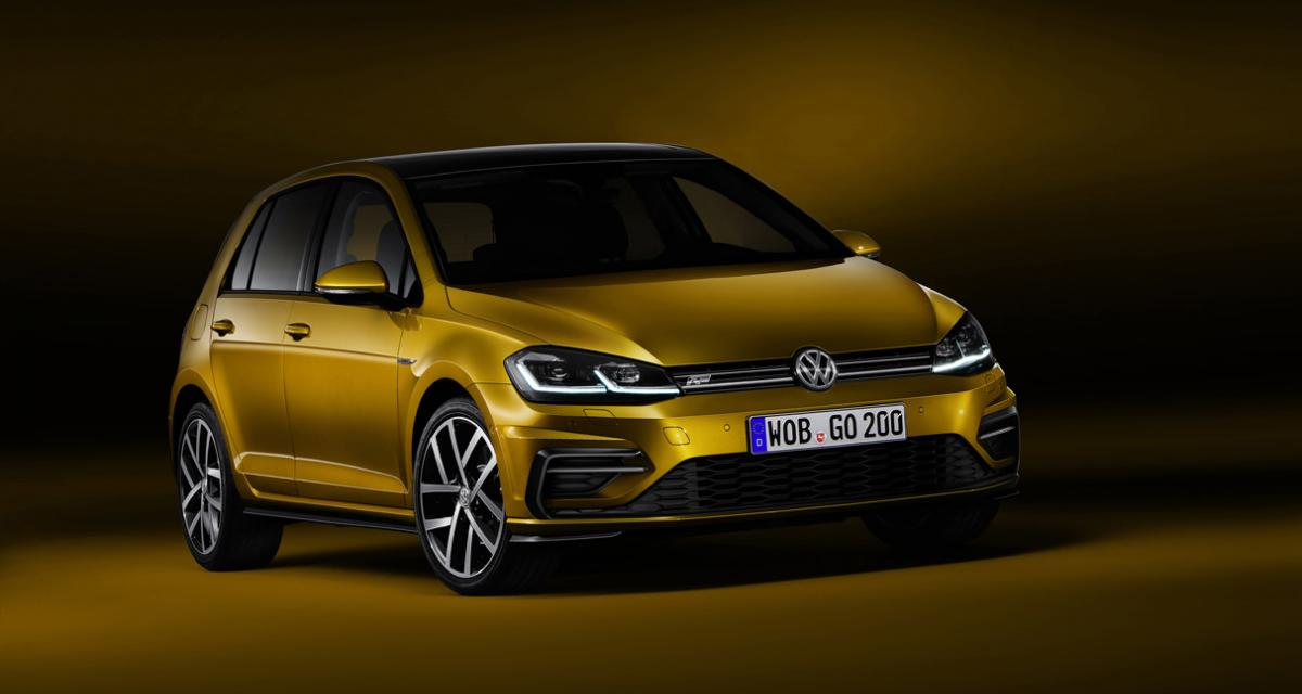 volkswagen golf r line restyl e 2017. Black Bedroom Furniture Sets. Home Design Ideas