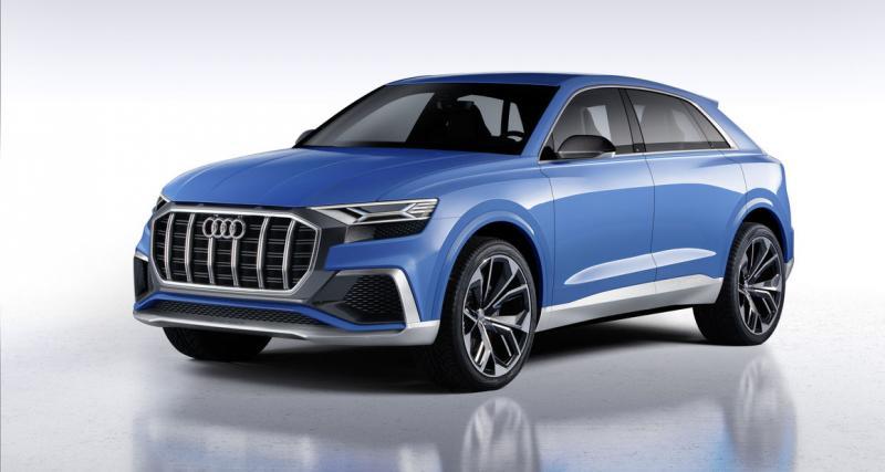 Audi Q8 Concept : un imposant SUV coupé aux anneaux pour 2018