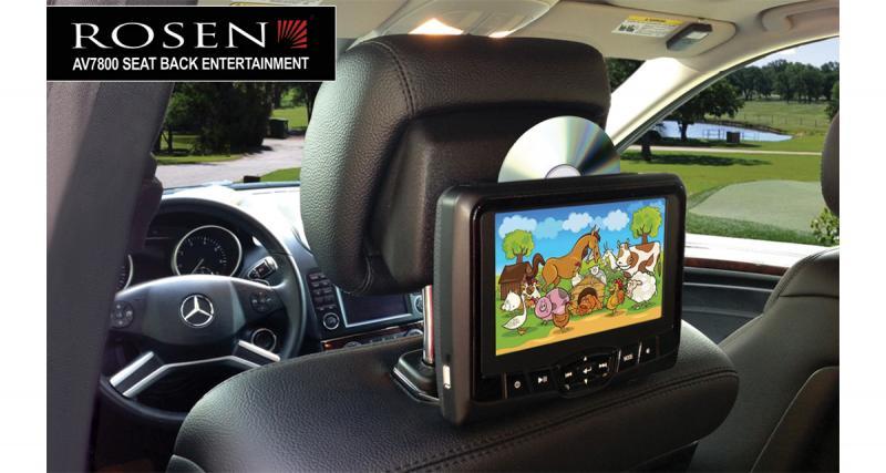 Un système vidéo pour les voitures à appuie-tête actifs chez Rosen Electronics